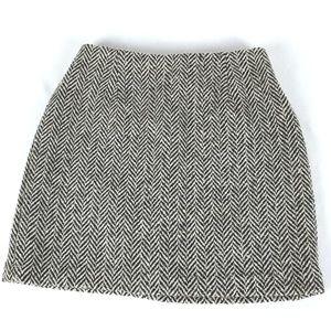 GAP Premium Classic Tailored Wool Blend Mini Skirt
